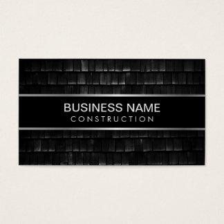 Cartão De Visitas Textura preta profissional da construção