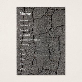 Cartão De Visitas Textura preta rachada do pavimento