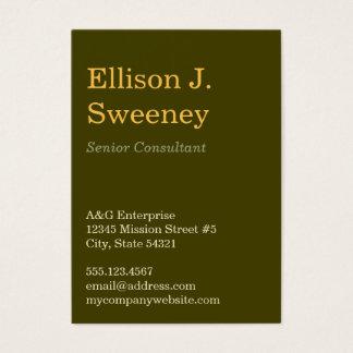 Cartão De Visitas Tipo corajoso profissional cinzento design do