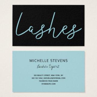 Cartão De Visitas Tipografia azul do técnico do chicote do preto do