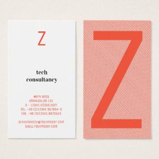 Cartão De Visitas Tipografia baseada