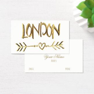 Cartão De Visitas Tipografia BRITÂNICA do olhar do ouro do amor de