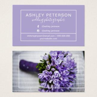 Cartão De Visitas Tipografia do quadro do fotógrafo do casamento da