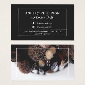 Cartão De Visitas Tipografia do quadro do maquilhador da foto