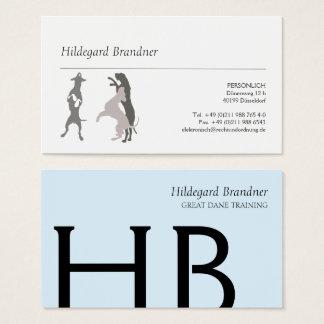 Cartão De Visitas Tipografia e grandes dinamarqueses