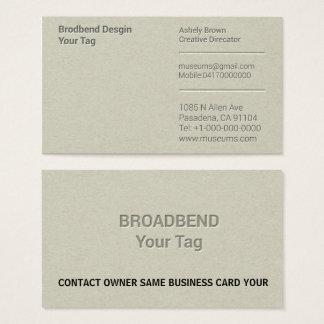 Cartão De Visitas Tipografia Simples Negócio Homem Empresa