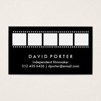 Cartão De Visitas Tira preto e branco do filme