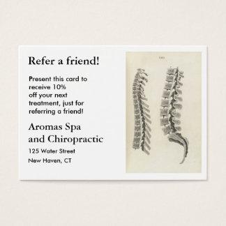 Cartão De Visitas Tiragem das vértebras
