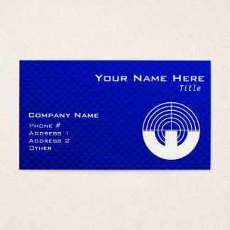 Cartão De Visitas Tiro azul do esporte