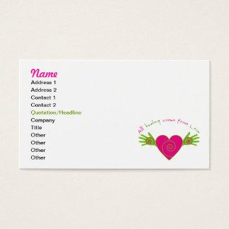 Cartão De Visitas Toda cura vem do amor
