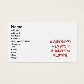 Cartão De Visitas Todos ama um jogador do Bagpipe