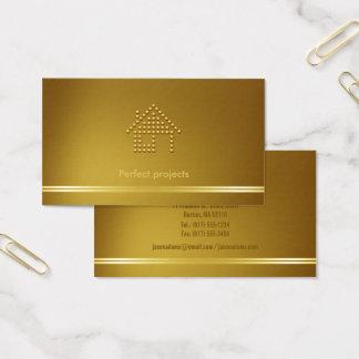 Cartão De Visitas Tom dourado moderno do arquiteto |