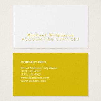 Cartão De Visitas Tom mínimo do duo elegante