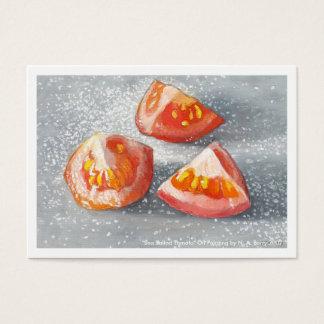 Cartão De Visitas Tomate salgado mar