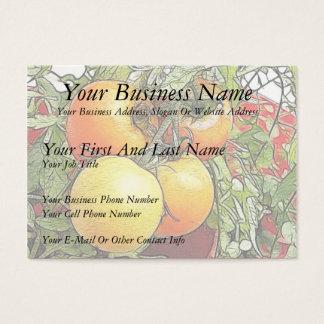 Cartão De Visitas Tomates frescos da herança do jardim