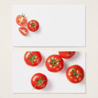 Cartão De Visitas Tomates frescos no branco