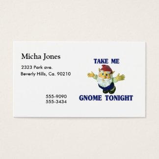 Cartão De Visitas Tome-me o gnomo hoje à noite