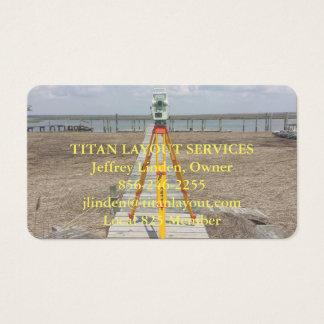 Cartão De Visitas topógrafo da terra na costa