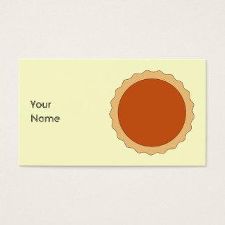 Cartão De Visitas Torta de abóbora