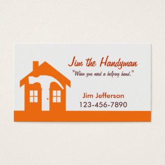 Cartão De Visitas Trabalhador manual/cartão de visita Home da