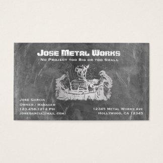 Cartão De Visitas Trabalhadores do metal