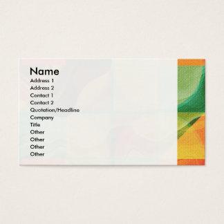 Cartão De Visitas Trabalhos de arte abstratos