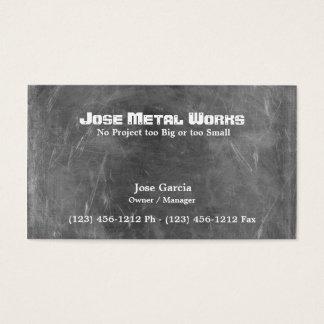 Cartão De Visitas Trabalhos feitos sob encomenda do metal
