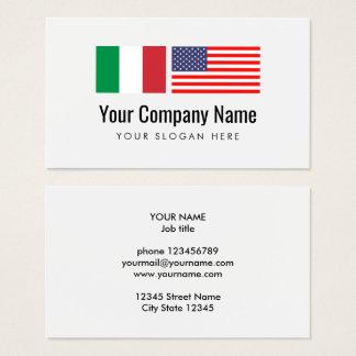 Cartão De Visitas Tradutor inglês italiano do serviço de tradução