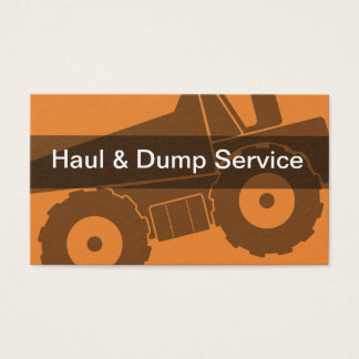 Cartão De Visitas Transportando o serviço do contentor