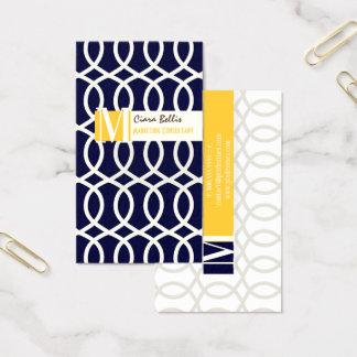 Cartão De Visitas Treliça de PixDezines monaco/cores diy em uma