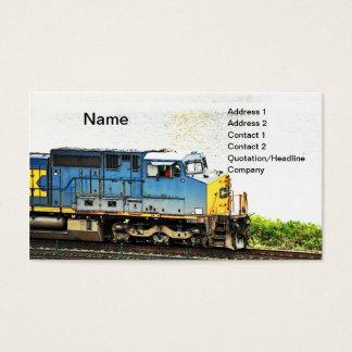 Cartão De Visitas trem diesel
