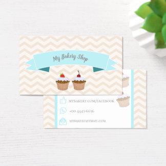 Cartão De Visitas Trendy Bakery Cupcakes Business Card