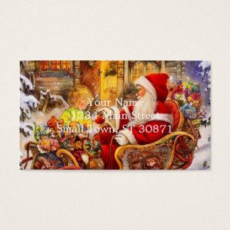 Cartão De Visitas Trenó do papai noel - ilustração de Papai Noel