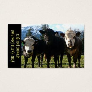 Cartão De Visitas Três gados bovinos dos amigo