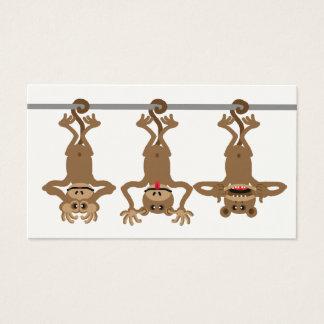 Cartão De Visitas Três macacos insolentes