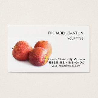 Cartão De Visitas Três maçãs vermelhas