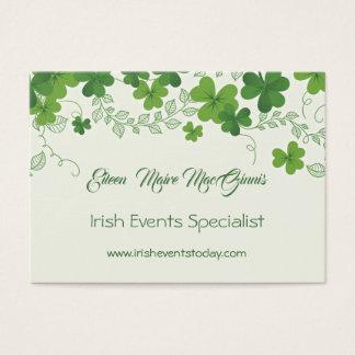 Cartão De Visitas Trevo irlandês (trevo)