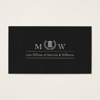 Cartão De Visitas Tribunal de Monogramed