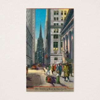 Cartão De Visitas Trindade velha & Wall Street, New York