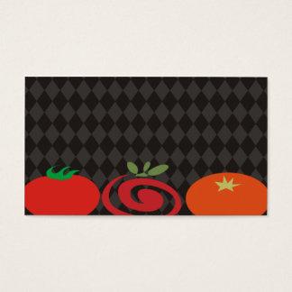 Cartão De Visitas trio do tomate que cozinha o carro culinário do