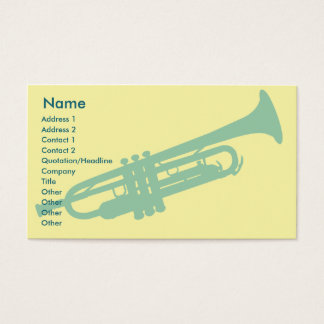 Cartão De Visitas Trombeta - negócio