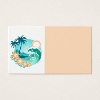 Cartão De Visitas Trópicos azuis