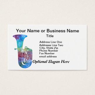 Cartão De Visitas Tuba de Colorwashed