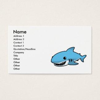 Cartão De Visitas Tubarão bonito
