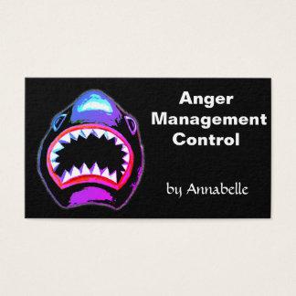 Cartão De Visitas Tubarão - controle de gestão da raiva