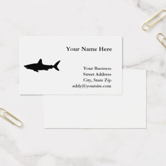 Cartão De Visitas Tubarão da natação