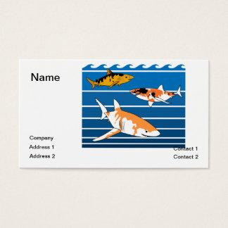 Cartão De Visitas Tubarões de Koi