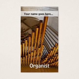 Cartão De Visitas Tubulações de órgão douradas