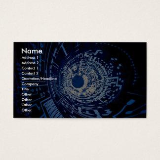 Cartão De Visitas Túnel gráfico do circuito de computador