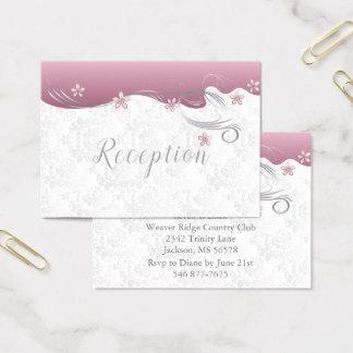 Cartão De Visitas Turmalina cor-de-rosa elegante do design | do